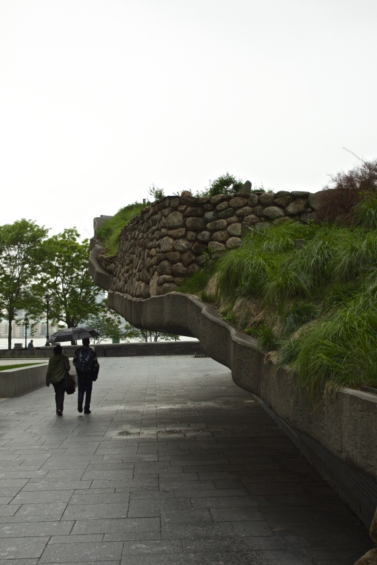 The Irish Hunger Memorial, Battery Park...the Saturday of Memorial Day weekend