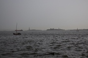 Hudson River with Statue of Liberty in the distance