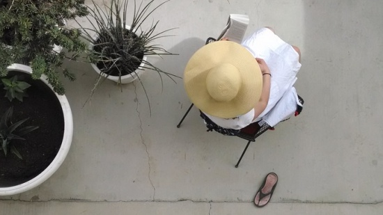 Hat and planters, Palm Springs