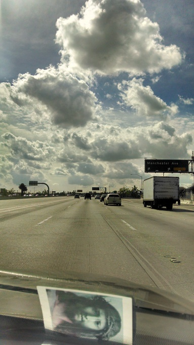 Jesus on the road, Los Angeles, California