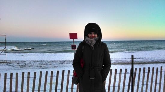 Freezing, Toronto beach in winter