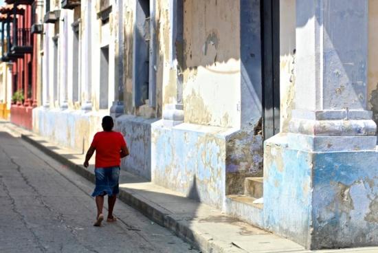 Colonial street, Santa Marta, Colombia
