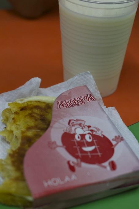 Arepa con avena Colombiana