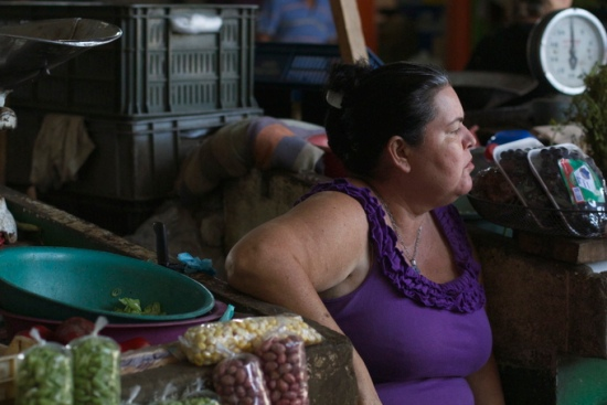 Market seller, Girardot, Colombia