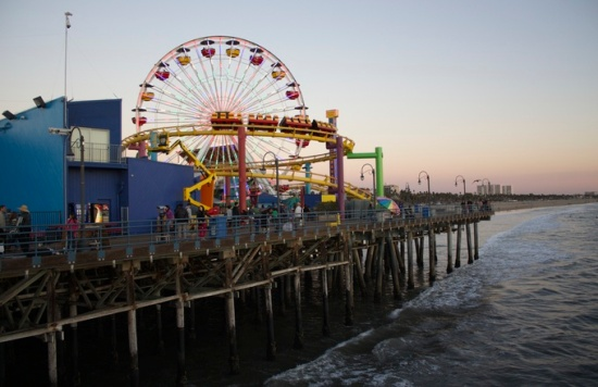 Ferris wheel, Santa Monica Pier, California