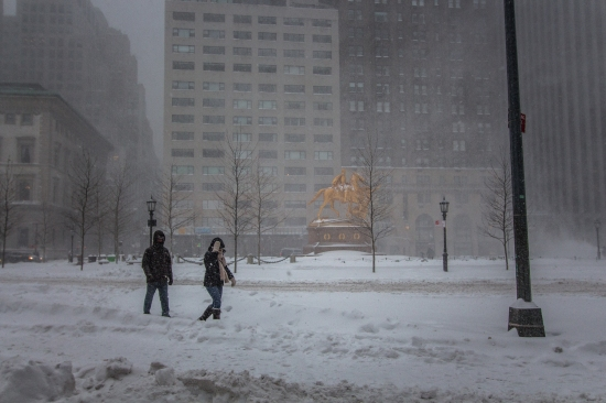 5th Avenue, New York City, Winter Storm Jonas