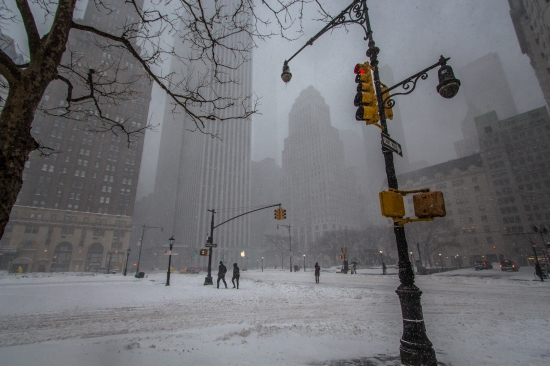 59th Street, New York City, Winter Storm Jonas