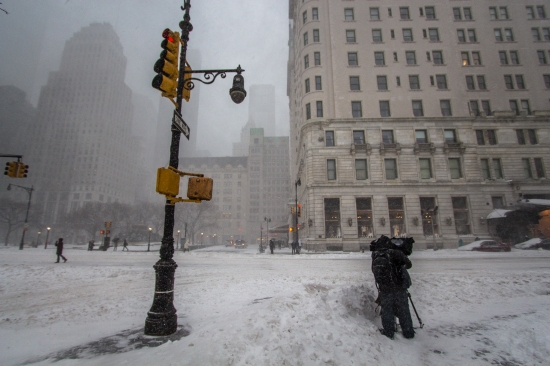 The Plaza Hotel, New York City, Winter Storm Jonas